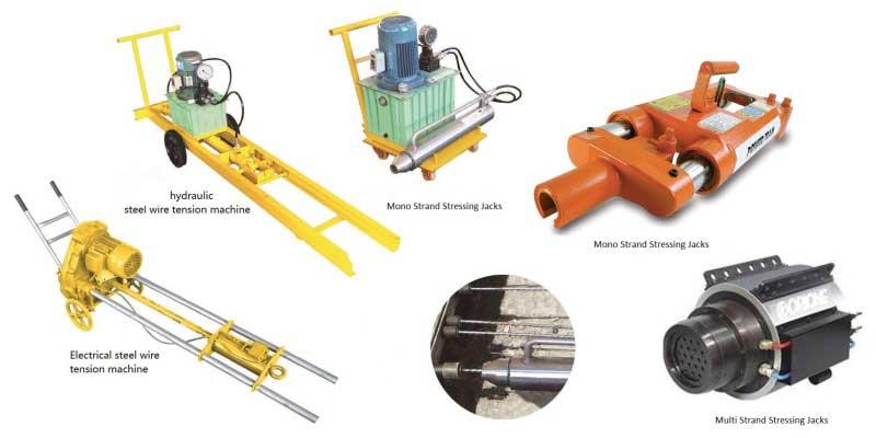 موارد کاربرد پمپ و جک منو و مالتی Post-Tension-Mono-Multi-Hydraulic-Jack-Usage