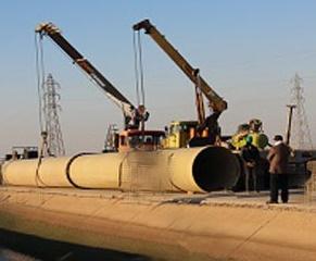 قالب کانال انتقال آب بتنی - خط لوله انتقال آب بتنی