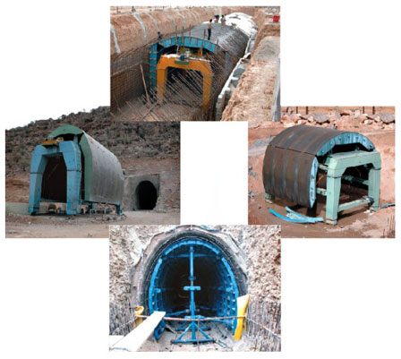 قالب ساخت تونل بتنی