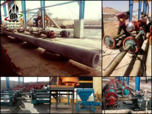 دستگاه سانتریفیوژ, خط تولید تیرگرد، خط تولید پایه گرد، خط تولید همراه با قالب و دستگاه های تولید کننده، Concrete Pole Production Line، Devices To Produce Concrete Poles