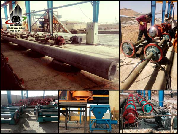 concrete pole production line