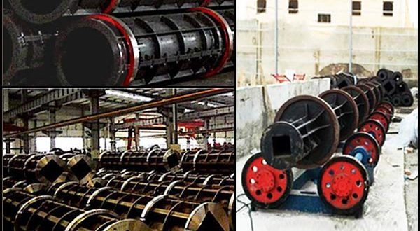 Prestressed Spun Concrete Poles and Piles Produced By Spinning Machine