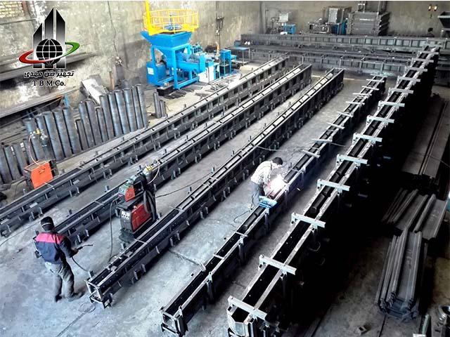 Precast Reinforced Concrete H Pole mold , Precast Concrete Pole Production Line, قالب تیر برق اچ، قالب پایه بتنی H، ماشین آلات و تجهیزات خط تولید تیر برق H،خط تولید تیر برق اچ