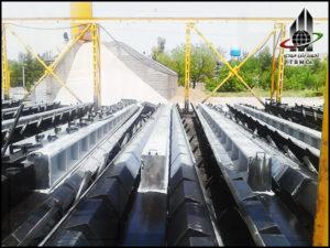 Precast Reinforced Concrete H Pole , Precast Concrete Pole Production Line, قالب تیر برق اچ، قالب پایه بتنی H، ماشین آلات و تجهیزات خط تولید تیر برق H،خط تولید تیر برق اچ