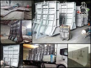 Precast Concrete Free Stand Wall Mold, قالب دیوار پیش ساخته بتنی