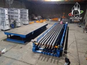ساخت دستگاه تولید دال بتنی هالوکر (شامل قالب هالوکر، دستگاه کِشنده، صفحه فشاری و میز ویبره) برای ترکمنستان، Hollow Core Slab production line