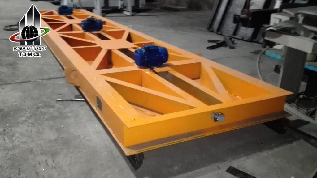 ساخت دال بتنی هالوکر با استفاده از قالب، دستگاه کشنده، صفحه فشاری و میز ویبره Hollow Core Slab production line,Hollow Core Slab production line machinery,tbm company,تجهیز بتن مهدی, Pressure Plate