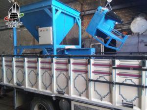 ارسال تجهیزات خط تولید پایه گرد بتنی پیش تنیده به روش سانتریفیوژ به استان یزد