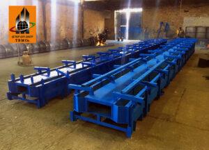 قالب فلزی پایه بتنی اچ - Concrete Pole Steel Molds
