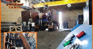 دستگاه سانتریفیوژ تولید پایه بتنی گرد پیش تنیده - Concrete pole spinning machine